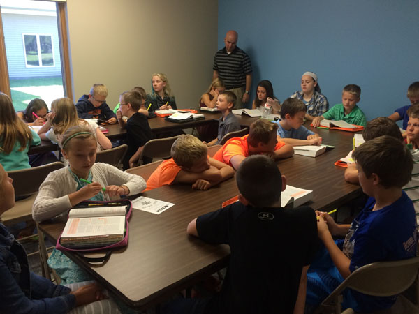 Fifth and 6th Grade Sunday School at St. Peter Lutheran
