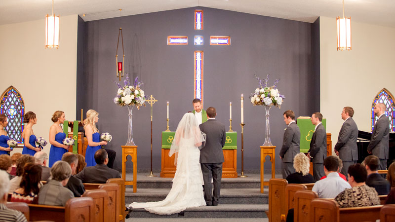 Pastor Mark performs a wedding